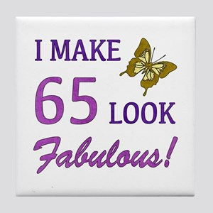 I Make 65 Look Fabulous! Tile Coaster