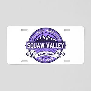 Squaw Valley Lavender Aluminum License Plate