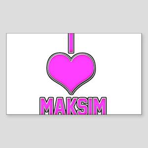 I Heart Maksim (pink) Sticker