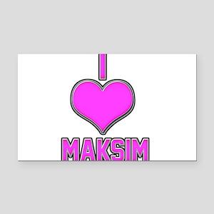 I Heart Maksim (pink) Rectangle Car Magnet