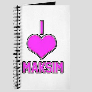 I Heart Maksim (pink) Journal