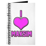 I Heart Maksim (pink) Journal
