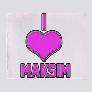 I Heart Maksim (pink) Throw Blanket