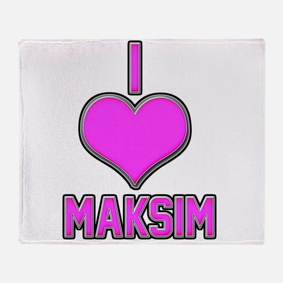 I Heart Maksim (pink) Throw Blanket
