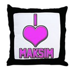 I Heart Maksim (pink) Throw Pillow