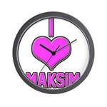 I Heart Maksim (pink) Wall Clock