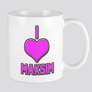 I Heart Maksim (pink) Mug