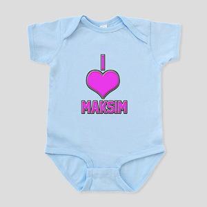 I Heart Maksim (pink) Body Suit