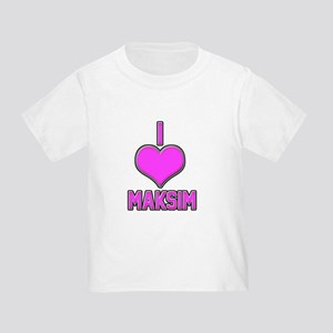 I Heart Maksim (pink) T-Shirt