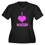 I Heart Maksim (pink) Plus Size T-Shirt