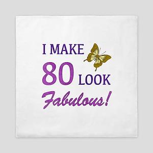 I Make 80 Look Fabulous! Queen Duvet