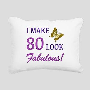 I Make 80 Look Fabulous! Rectangular Canvas Pillow
