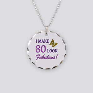 I Make 80 Look Fabulous! Necklace Circle Charm