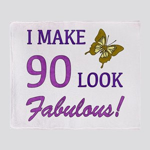 I Make 90 Look Fabulous! Throw Blanket
