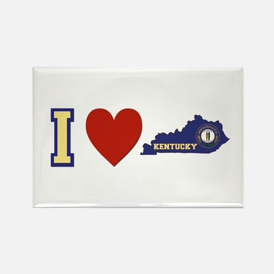 I Love Kentucky Rectangle Magnet