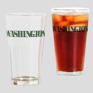 WASHINGTON IN MARIJUANA FONT Drinking Glass