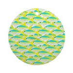 School of yellowtail snapper 1 Ornament (Round)