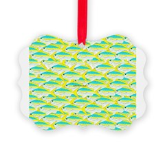 School of yellowtail snapper 1 Ornament