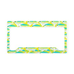 School of yellowtail snapper 1 License Plate Holde