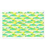 School of yellowtail snapper 1 Postcards (Package