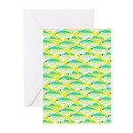 School of yellowtail snapper 1 Greeting Cards (Pk
