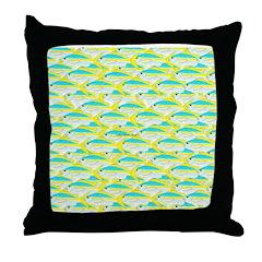School of yellowtail snapper 1 Throw Pillow
