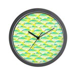 School of yellowtail snapper 1 Wall Clock