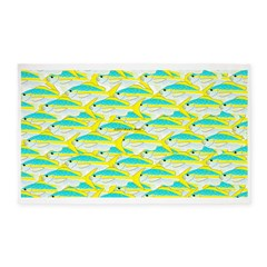 School of yellowtail snapper 1 3'x5' Area Rug