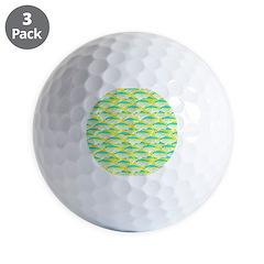 School of yellowtail snapper 1 Golf Ball