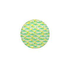 School of yellowtail snapper 1 Mini Button (100 pa