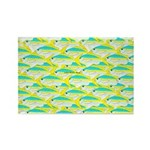 School of yellowtail snapper 1 Rectangle Magnet (1