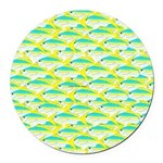 School of yellowtail snapper 1 Round Car Magnet