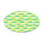 School of yellowtail snapper 1 Oval Car Magnet
