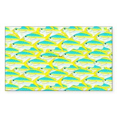 School of yellowtail snapper 1 Decal