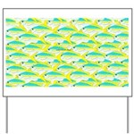 School of yellowtail snapper 1 Yard Sign