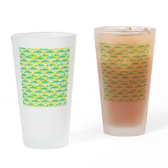 School of yellowtail snapper 1 Drinking Glass