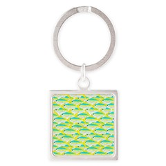 School of yellowtail snapper 1 Keychains