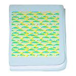 School of yellowtail snapper 1 baby blanket