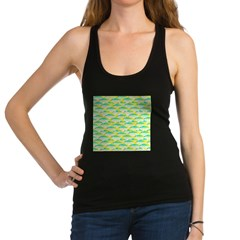School of yellowtail snapper 1 Racerback Tank Top