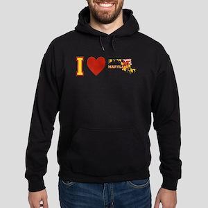 I Love Maryland Hoodie (dark)