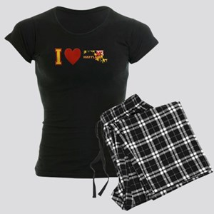 I Love Maryland Women's Dark Pajamas