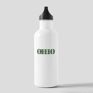 OHIO IN MARIJUANA FONT Water Bottle