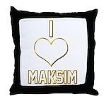I Heart Maksim (dark) Throw Pillow