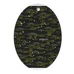 Black Bullhead catfish School Pattern f Ornament (