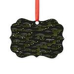 Black Bullhead catfish School Pattern f Ornament