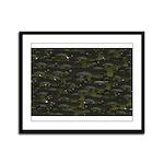 Black Bullhead catfish School Pattern f Framed Pan