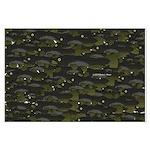 Black Bullhead catfish School Pattern f Posters
