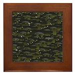 Black Bullhead catfish School Pattern f Framed Til