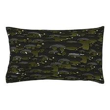 Black Bullhead catfish School Pattern f Pillow Cas