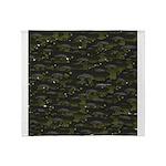 Black Bullhead catfish School Pattern f Throw Blan